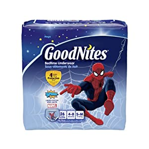 Huggies GoodNites Boys Underwear Small/Medium, Boy, 26 Count (Pack of 3), Packaging May Vary