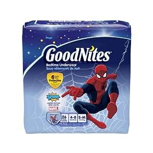 Huggies GoodNites Boys Underwear Small/Medium, Boy, 26 Count (Pack of 3), Packaging May Vary