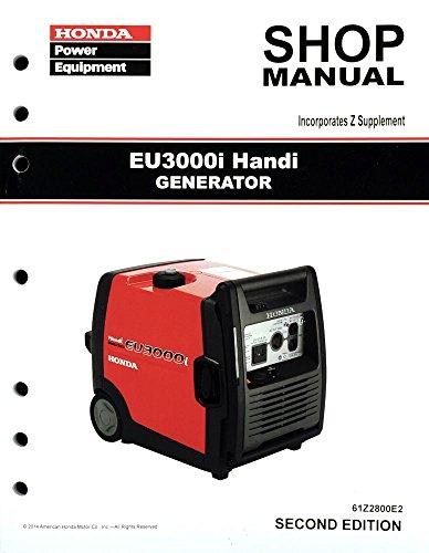 Honda EU3000 EU3000i Handi Generator Service Repair Shop Manual (Honda Generator Cover Eu3000i compare prices)