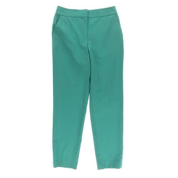 St John Womens Emma Wool Solid Ankle Pants