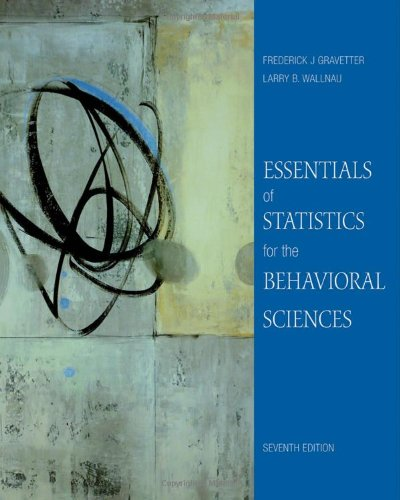 Essentials of Statistics for the Behavioral Sciences (PSY...