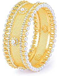 Sukkhi Sparkling Gold Plated AD Moti Kada For Women