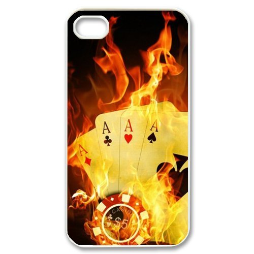 Generic Mobile Phone Cases Cover For Iphone 5 5C Case Diy Customized Ace Poker Spade Heart Club Diamond Playing Cards Design Plastic Cell Phones Protective Shell Personalized Pattern Skin