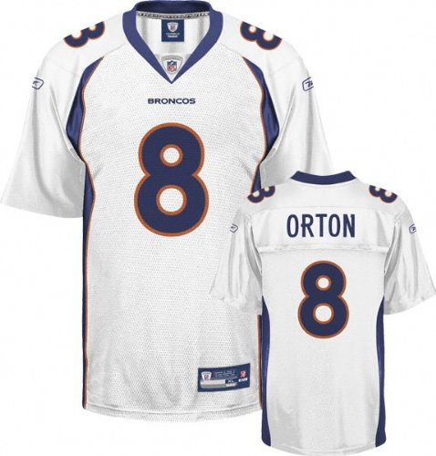 White Replica #8 Denver Broncos Jersey