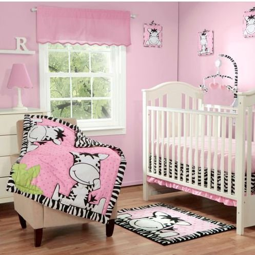 Babyboom I Luv Zebras 3 Piece Bedding Set Pink