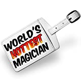 Luggage Tag Worlds hottest Magician, Travel ID Bag Tag - Neonblond