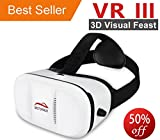 Motoraux 3rd VR Virtual Reality Headset Google Version 3D Glasses Video Movie Game VR Headset for Samsung LG Sony HTC Motorola ZTE