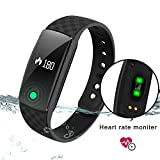 DENISY Fitness Tracker Wireless Activity Smart Bracelet with Heart Rate Monitors for IOS Android Wristband