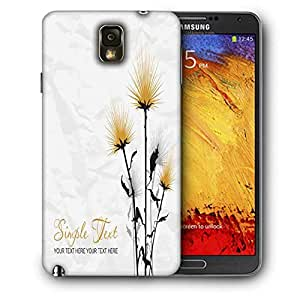 Snoogg Simple Text White Printed Protective Phone Back Case Cover For Samsung Galaxy NOTE 3 / Note III