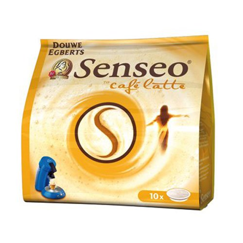 Senseo Café Latte, Pack of 10, 10 x 10 Coffee Pods