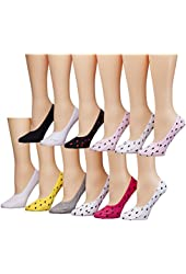 Tipi Toe Women's 12 Pack Colorful Patterned Cotton Foot Liners