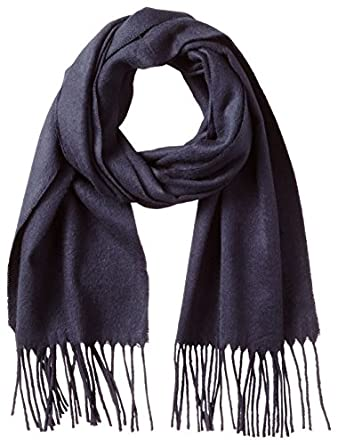 Fraas Men's Solid Scarf, Navy, One Size