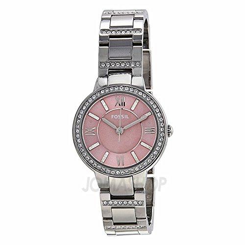 Fossil Fósiles Virginia Color de rosa Dial Acero inoxidable Acero Damas Reloj ES3504