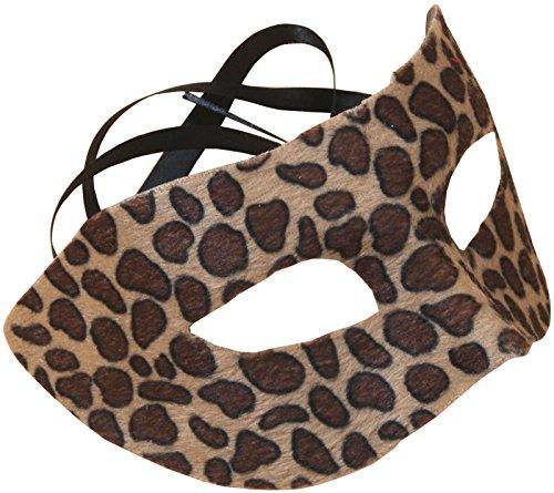 "Loftus International Star Power Spotted Cheetah Half Mask, Brown, One Size/6.5 x 3.5"""