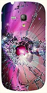 Great multicolor printed protective REBEL mobile back cover for S3 Mini / Samsung I8190 Galaxy S III mini D.No.N-L-10567-S3M