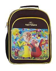 Right Choice Nursery,Lkg,Ukg,Kids,Girls,Boys,Motu Patlu,School bag,Purple & yellow (RCS4048)