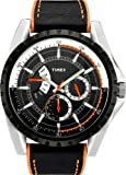 Timex Mens Retrograde Black Leather Strap Watch - T2M428PF