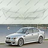 New Original Headlight Headlamp Lens Plastic Cover (PAIR) BMW 5 E60 / E61