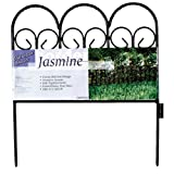 Origin Point 060018 Jasmine Classic Decorative Steel Landscape Border Fence Section