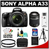 Sony Alpha A33 SLTA33L 14.2 MP Translucent Mirror