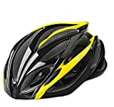 Coolchange Outdoor Sport Protector Road Bicycle Helmet 21 Holes Riding Equipment Male and Female Models, Suitable for People with Head Circumference 64cm and the Head-width Below 17.6cm-black and Yellow