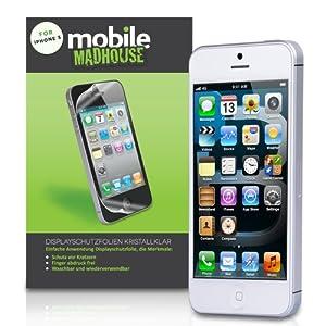 Schutzfolie iPhone 5 / 5S Displayschutzfolie Wache x 4 Packen Mit Micro Faser Poliertuch Und Anwendung Karte