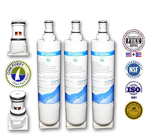 3 Pack - Water Filter By Onepurify To Replace Whirlpool, Kitchenaid, Sears, Thermador, 4396508, 4396510, 4392857, 9010, 9902, Nlv240V, Wf285, Wf-Nl300, Wf-L500, Wfnl240, 4396509, 4396918, Nlc250, Wf-Nlc250, Wprf-100, 2305768, 90102, 4392922, 4396163, 4396