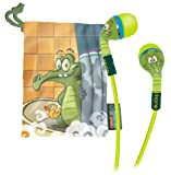 eKids Swampy Noise Isolating Earphones with Travel Pouch, by iHome - DW-M15
