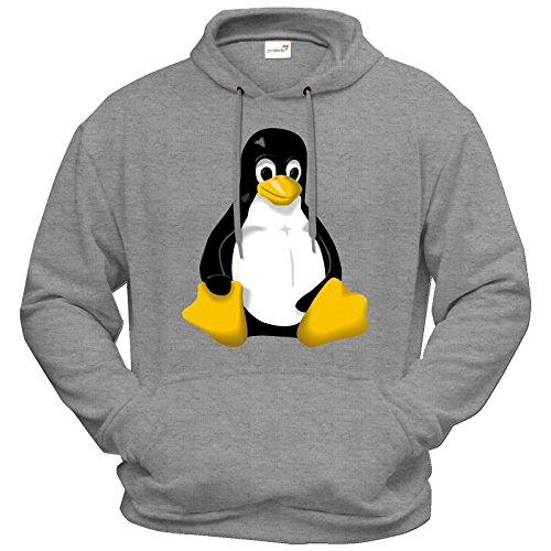 getshirts-best-of-hoodie-geek-linux-tux-graumeliert-xxl