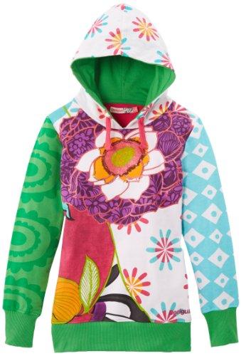 Desigual Mädchen Sweatshirt SWEAT_GUIMA, Gr. 116 (Herstellergröße: 5/6), Weiß (Blanco)