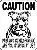 PITBULL ALUMINUM GUARD DOG SIGN PSPB