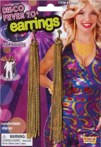 Disco Chain Adult Earrings Accessory Size One-size