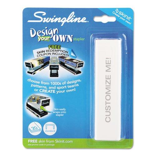 Swingline - Skins Fashion Stapler, 20-Sheet Capacity, White 87880 (Dmi Ea