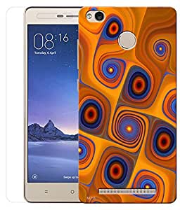 Indiashopers Combo of Spiral Abstract HD UV Printed Mobile Back Cover and Tempered Glass For Xiaomi Redmi Note 3S Prime