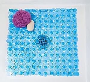 Ambient river rock shower mat square non for River stone bath mat