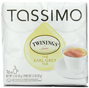 Tassimo Twinings Earl Grey Tea, 16-Count T-Discs (Pack of 5)