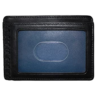 Boconi Collins Calf Weekender ID Card Case (Black Calf w/blue)