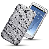 SAMSUNG GALAXY S3 SIII ZEBRA STRIPED DIAMANTE DISCO BLING BACK COVER BY CELLAPOD CASESby CELLAPOD