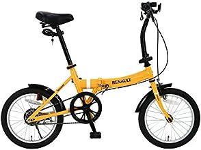 RENAULT(ルノー) FDB16 オレンジ 16インチ 超コンパクト 折りたたみ自転車 前後泥除け/LEDライト/ワイヤーロック標準装備 11249-1099