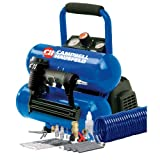 Campbell Hausfeld FP209599AV 2-Gallon Mini Twin-Stack Air Compressor with 1 1/4-Inch 2-in-1 Brad Nailer / Stapler Kit