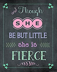 Heritage 1093 She is Fierce Wall Decor, 10 x 8-Inch, Chalkboard