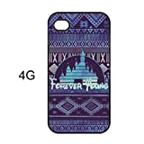 EVERMARKET(TM) Forever Young Disney Inspired Case Cover Skin for iPhone 4 4g 4S