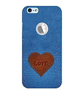 EPICCASE Jean heart Mobile Back Case Cover For Apple iPhone 6, 6S Logo Cut (Designer Case)