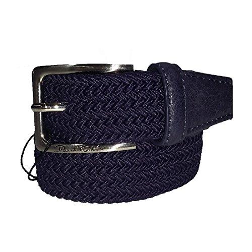Cintura uomo Renato Balestra intrecciata elasticizzata Blu notte cod: CN0E390