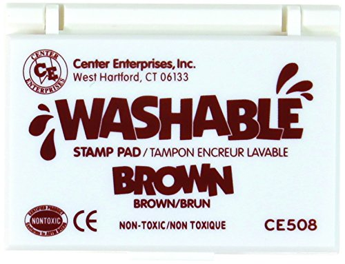 Center Enterprise CE508 Washable Stamp Pad, Brown