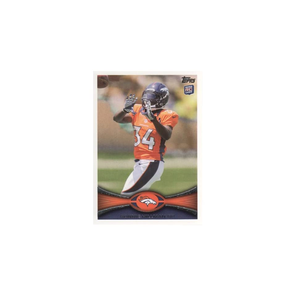 2012 Topps Football #283 Ronnie Hillman RC Denver Broncos NFL Rookie Trading Card