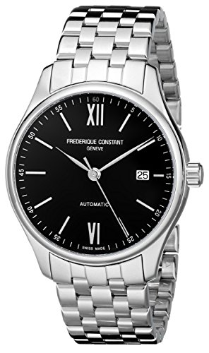 Frederique Constant Men's FC303BN5B6B Classics Analog Display Swiss Automatic Black Watch image