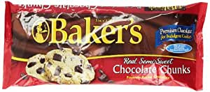 Baker's Semi-Sweet Chocolate Chunks, 12-Ounce Bags (Pack of 6)