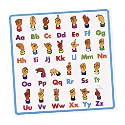 Sign Language Alphabet Stickers - Package of 10