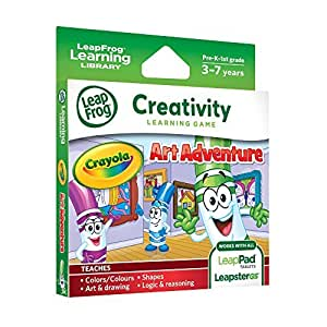 1 X LeapFrog Explorer Game: Crayola Art Adventure (for LeapPad and Leapster)